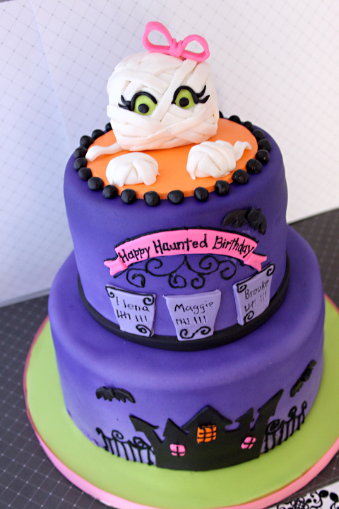 Haunted Halloween Birthday Cake Layered