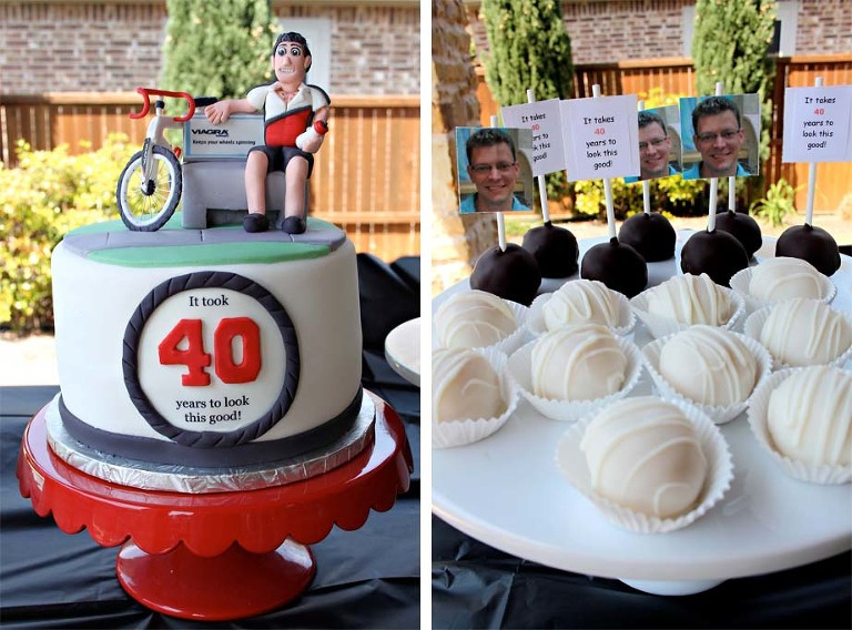 Cycling 40th Birthday Cake