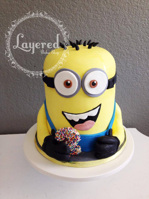 Minion Cake Layered