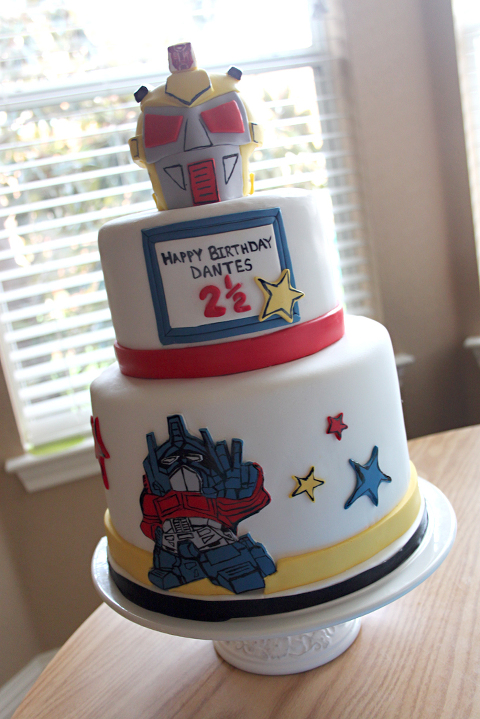 Transformer Cake Layered